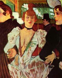 Henri de Toulouse-Lautrec - La Goulue Arriving at the Moulin Rouge with Two Women