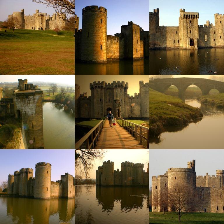 collage Bodiam zamek