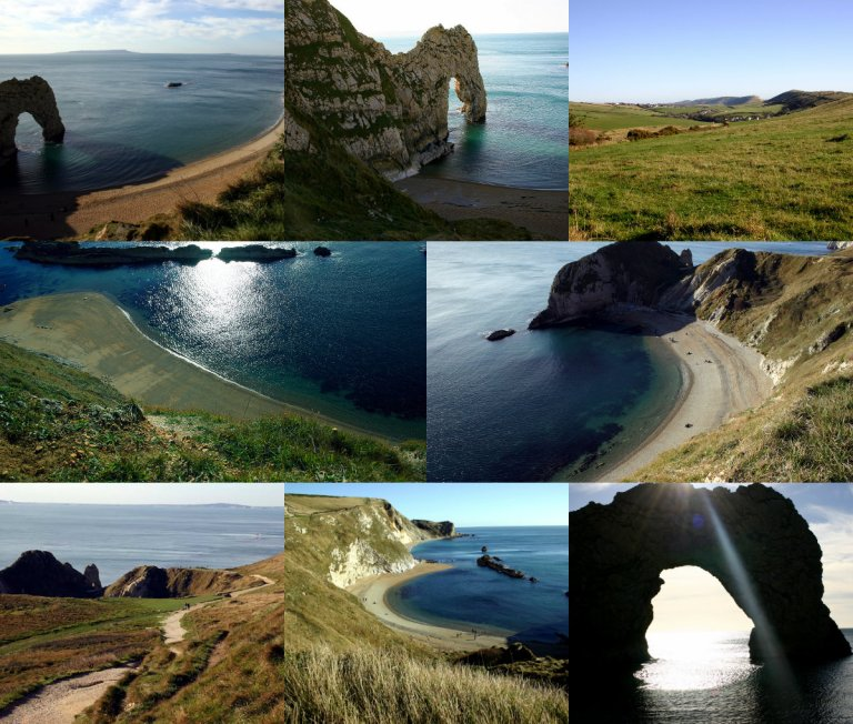 collage durdle door