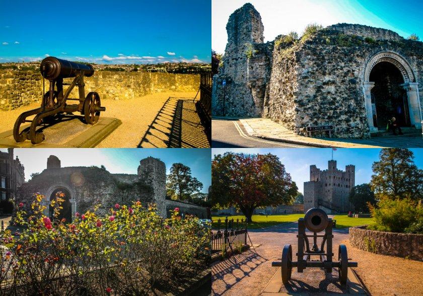 collage zamek w rochester