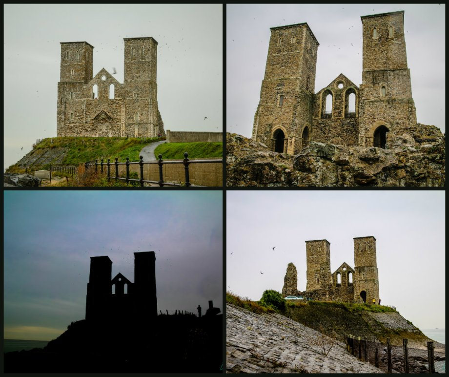 collage reculver towers