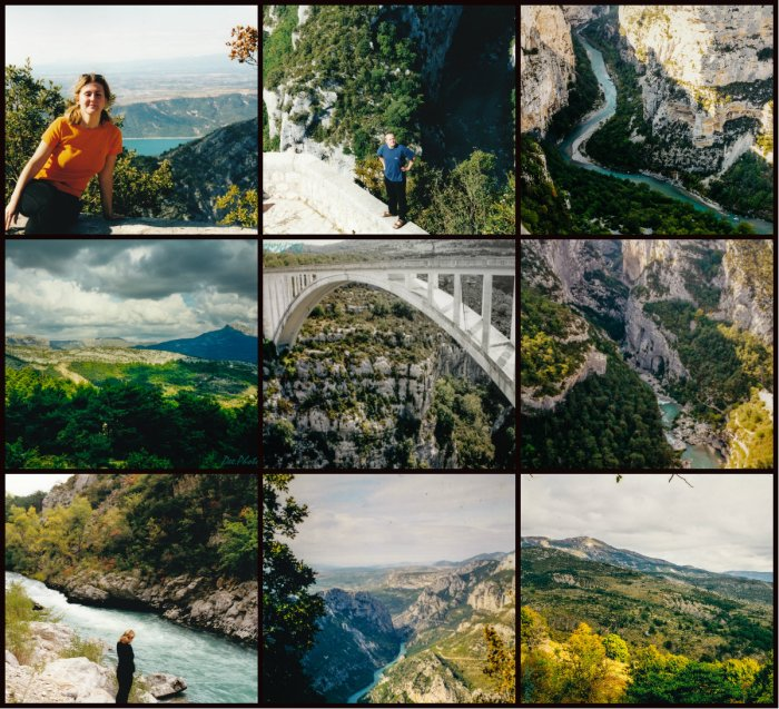 collage canon du Verdon